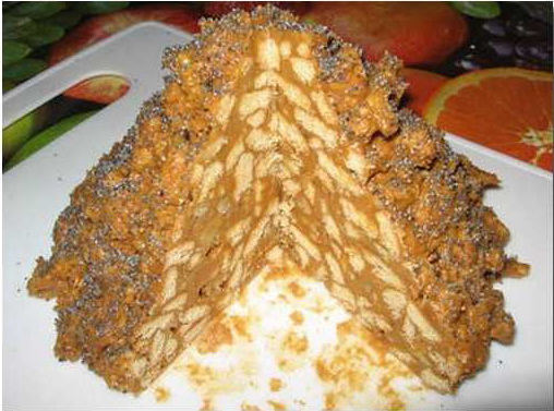 торт без выпечки муравейник
