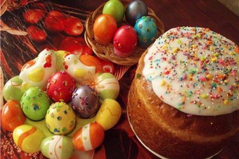 пасхальные яйца, украшение пасхального стола